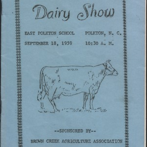 Thirteenth Annual Brown Creek Dairy Show