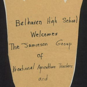 Belhaven High School Welcomes the Jamieson Group of Vocational Agricultural Teachers and Supervisor