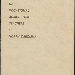 Educational Tour for Vocational Agriculture Teachers of North Carolina