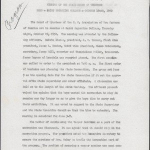 North Carolina Association of N.F.A. Minutes of the State Board of Trustees