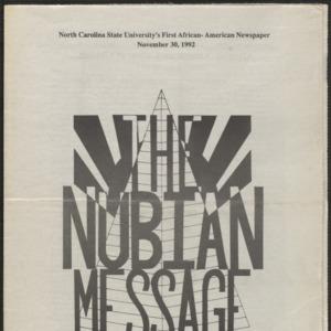 Nubian Message, November 30, 1992