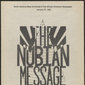 Nubian Message, January 27, 1993