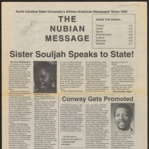 Nubian Message, March 1, 1993