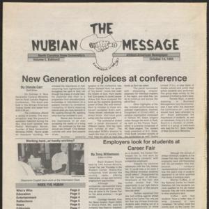 Nubian Message, October 14, 1993