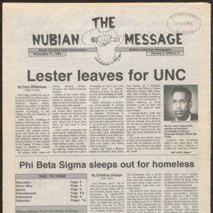 Nubian Message, November 11, 1993