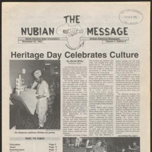 Nubian Message, November 23, 1993