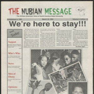 Nubian Message, March 10, 1994
