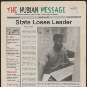 Nubian Message, March 24, 1994