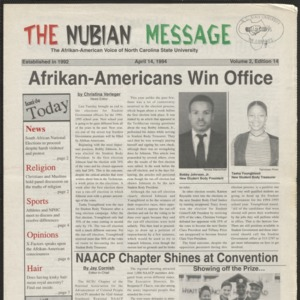 Nubian Message, April 14, 1994