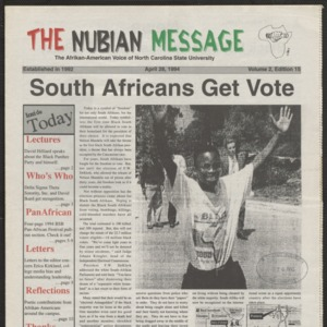 Nubian Message, April 28, 1994