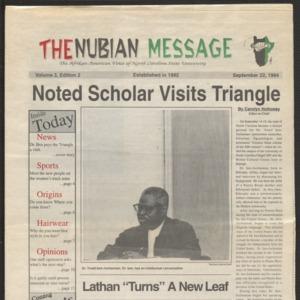 Nubian Message, September 22, 1994