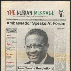 Nubian Message, November 17, 1994