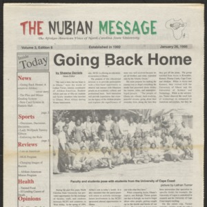 Nubian Message, January 26, 1995