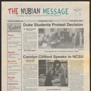 Nubian Message, February 9, 1995