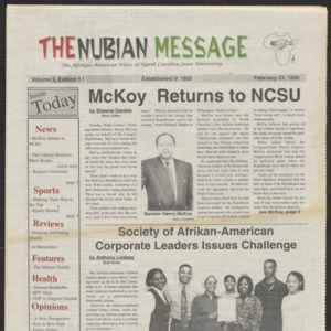 Nubian Message, February 23, 1995