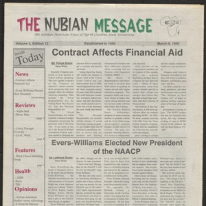 Nubian Message, March 9, 1995