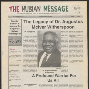Nubian Message, April 1, 1995