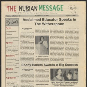 Nubian Message, April 13, 1995