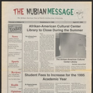 Nubian Message, April 27, 1995