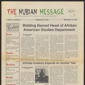 Nubian Message, September 28, 1995