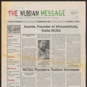 Nubian Message, October 12, 1995