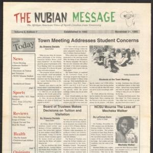 Nubian Message, November 21, 1995