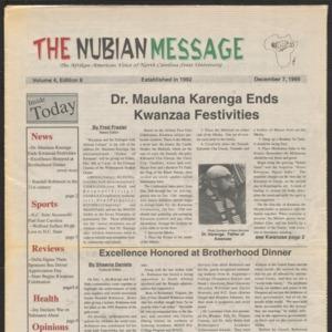 Nubian Message, December 7, 1995