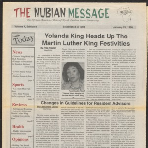 Nubian Message, January 25, 1996