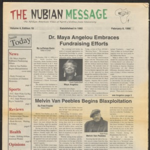 Nubian Message, February 8, 1996