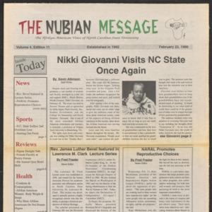 Nubian Message, February 22, 1996
