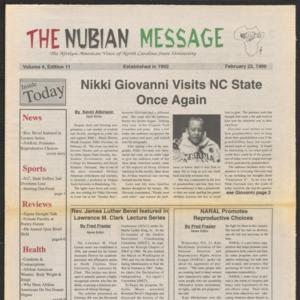 Nubian Message, February 22, 1996
