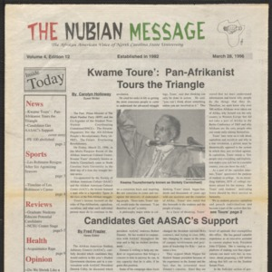 Nubian Message, March 28, 1996