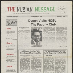 Nubian Message, April 11, 1996