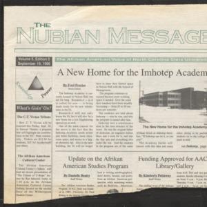 Nubian Message, September 19, 1996