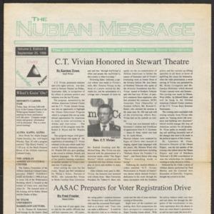 Nubian Message, September 25, 1996