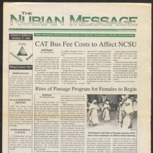 Nubian Message, October 17, 1996