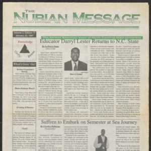 Nubian Message, January 23, 1997