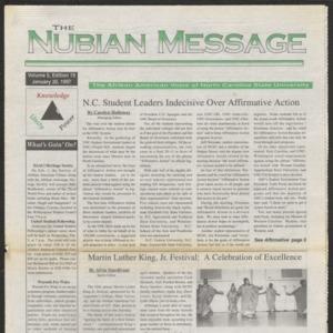 Nubian Message, January 30, 1997