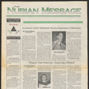 Nubian Message, February 6, 1997