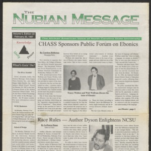 Nubian Message, February 20, 1997