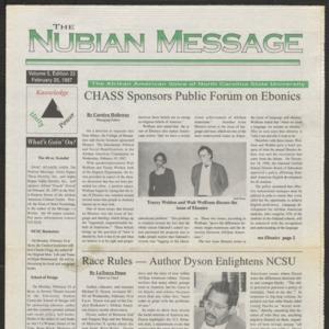 Nubian Message, February 20, 1997