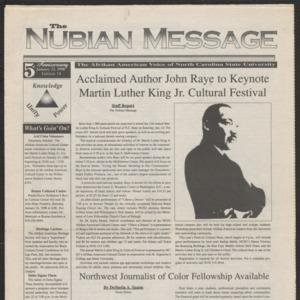 Nubian Message, January 22, 1998
