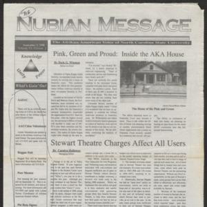 Nubian Message, November 3, 1998