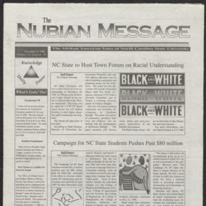 Nubian Message, November 5, 1998