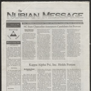 Nubian Message, January 21, 1999