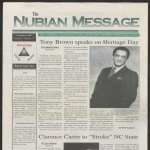 Nubian Message, November 4, 1999