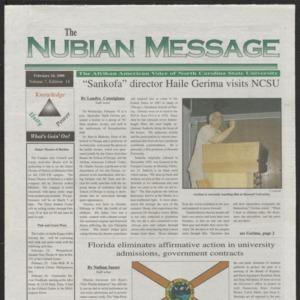 Nubian Message, February 24, 2000