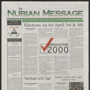 Nubian Message, March 2, 2000