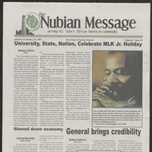 Nubian Message, January 11, 2001