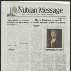 Nubian Message, January 25, 2001